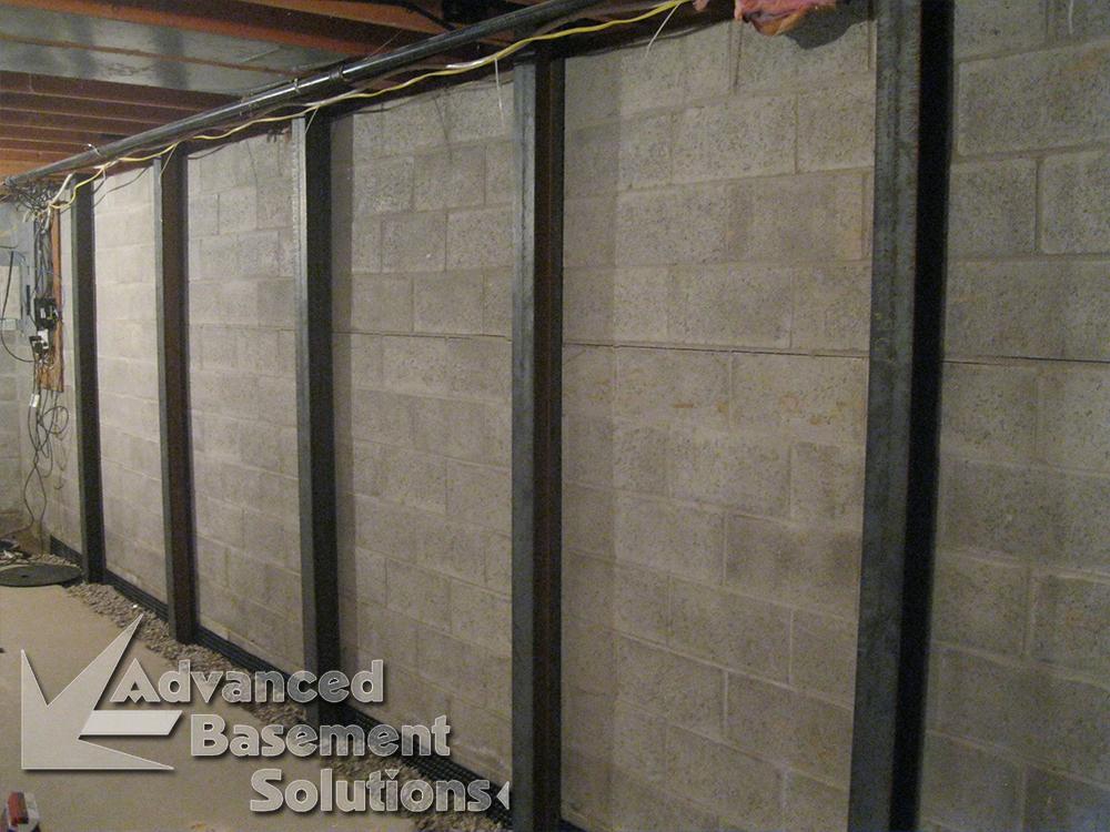 bowed wall repair advanced basement solutions