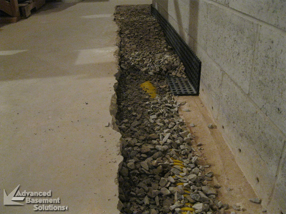 french drains advanced basement solutions