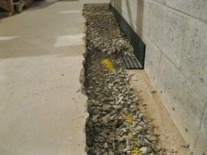 Interior Waterproofing French Drain