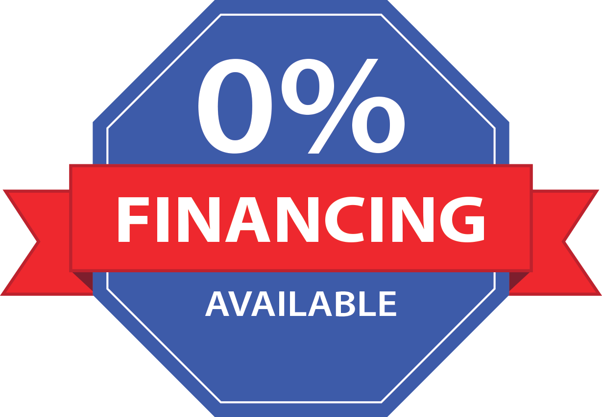 0% financing available badge